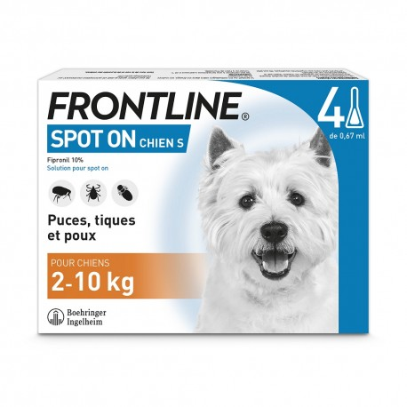 Frontline Chien Spot On de 2 à 10 kg