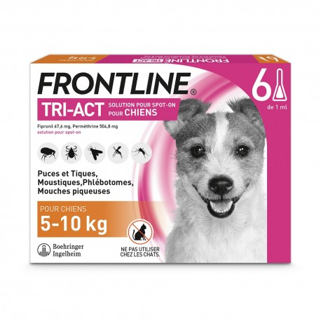 Frontline Tri-Act S Chien 5 à 10 kg