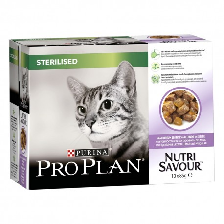 Cat Sterilised Nutri Savour Dinde Gelée