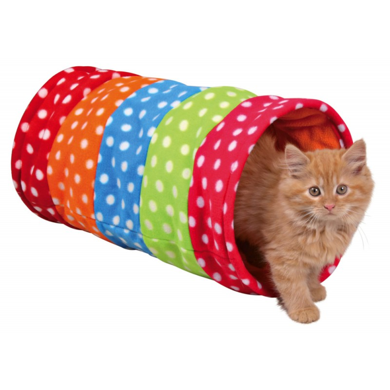 tunnel de jeu pour chat multicolore trixie. Black Bedroom Furniture Sets. Home Design Ideas